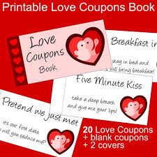Printable Love Coupons Book For Him And Her Valentines Day Gift For Him And For Her Romantic Coupons Pdf Love Coupons For Couples