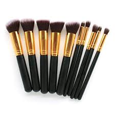 makeup brush kit 10 pc super soft synthetic premium essential makeup brush
