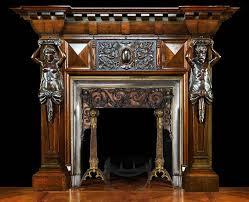 wooden antique fireplace mantels