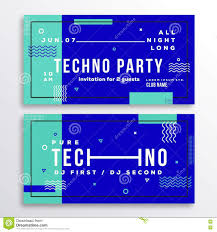 night techno party club invitation card or flyer template stock night techno party club invitation card or flyer template modern abstract flat swiss style background