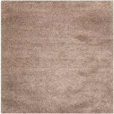 safavieh california shag taupe 4 ft x 4 ft square area california shag black 4 ft