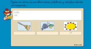 Recursos y material para educacion inicial. Actividades Interactivas De Lectura Y Escritura Educacion Primaria