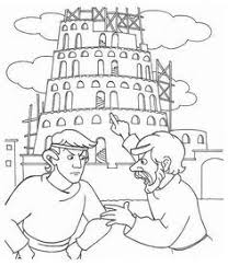 Small Picture Tower of Babel Coloring page Faith Sunday School Pinterest