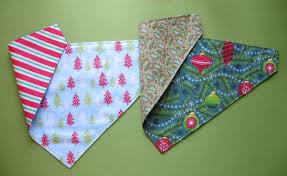 christmas dog bandanas sewing project
