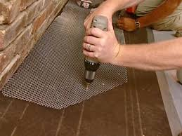 cut and secure the lath
