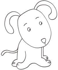 Disegno Di Cucciolo Di Cane Da Stampare Gratis E Colorare Con