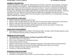 Free Download Security Officer Resume Skills Billigfodboldtrojer Com