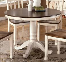 dining tables distressed round dining table white distressed table circle wooden table with dark brown