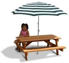 HOMCOM Kids Outdoor Patio Table Set Chair WUmbrella Folding Childrens Outdoor Furniture With Umbrella