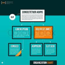 Background For Organizational Chart Modern Organizational Chart Template Stock Vector