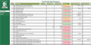 Planilhas De Controle De Estoque Controle De Estoque Excel Excelplanilhasprontas Com Br Planilhas