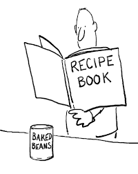 baked beans recipe book cartoon