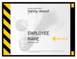 Employee Safty Employee Safety Award