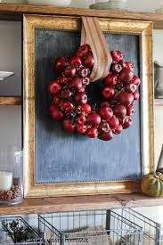 Red Apple Kitchen Decor Diy Apple Wreath The Wood Grain Cottage