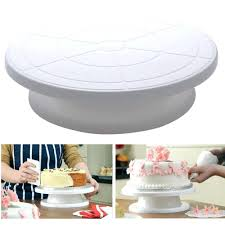 tilting cake stand decorating rotating revolving icing kitchen display  turntable .