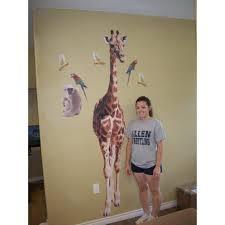 use giraffe wall decals for decor in kids rooms or art im giantgiraffewallsticker rooms