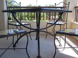 Set tavolo 4 sedie da giardino ceramica maiolica vietri dec