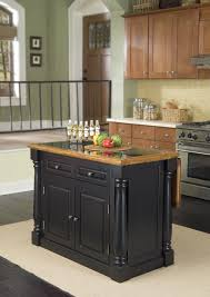 Granite Top Kitchen Trolley Baxton Studio Phoenix Black Modern Kitchen Island With Granite Top