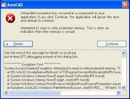AutoCAD Family: JIT (just-in-time) debugging errors - Up and Ready