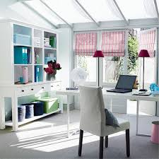 White home office design big white Workspace White Home Office Decorating Ideas With Sweet Striped Roman Shades And Red Mini Shades Table Lamp Warkacidercom Awesome Luxurious Black And White Country Decorating Home Office