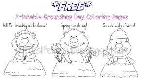 Small Picture Groundhog Day Coloring Pages jacbme