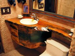 image of diy wood bathroom countertop