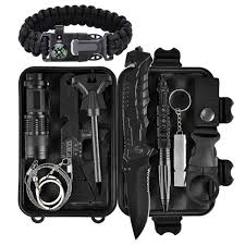 <b>Emergency Survival Kit</b> 11 in 1, Outdoor Survival <b>Gear</b> Tool with ...