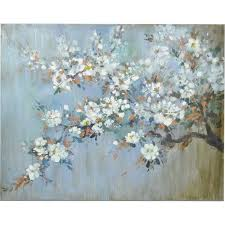 flowering tree branch painting wall art decor conn s