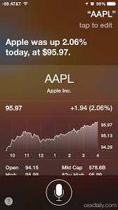 Siri Stock Quote 26 Best Get Stock Market Details From Siri On IPhone IPad IPod Touch