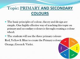 topic primary and secondary colours the basic principles of  3 topic primary and secondary colours the basic principles of colour theory and design are simple one highly effective way of teaching this topic on