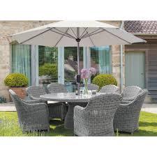royal kensington 10 piece round garden conservatory dining set cover