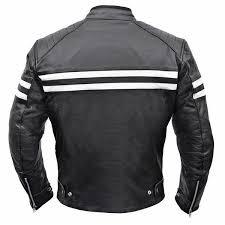 odins thunder classic leather motorcycle jacket