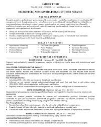 areas of expertise for customer service recruiter resume example job administrator