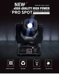 <b>60W Mini LED DMX</b> gobo Moving Head Spot Light Club DJ Stage ...