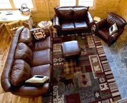 log cabin rugs can have rustic wildlife on them like this popular lodge area rug c rustic area rugs cabin lodge