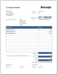 Advance Payment Receipt Template For Excel Word Excel