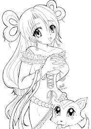 Cute Anime Cat Coloring Pages