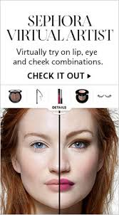 sephora virtual artist virtually try on lip eye and cheek binations check it out
