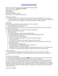 Correct Resume Format Resume Templates