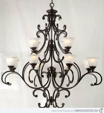 strikingly idea wrought iron chandeliers with crystal accents 32