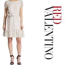 Red Valentino Cherry Print Chiffon Dress