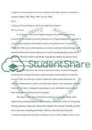 Essay About Learning English Language Language Assessment For Korean High School Students Learning English