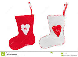Handmade Christmas Stockings Handmade Christmas Stockings Isolated On White Royalty Free Stock
