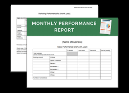 Monthly Performance Report Format Download Your Business Resource Monthly Performance Report Templates