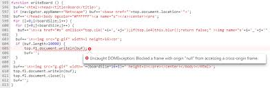 blocked a frame with origin null from