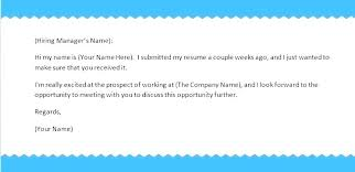 What To Write In An Email When Sending A Resume Sending Resume Email