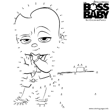 Small Picture The Boss Baby Connect The Dots Coloring Pages Printable