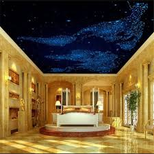 beibehang custom wallpaper 3d photo mural blue dream starry living room ceiling bedroom ceiling fresco hd