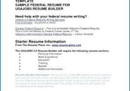 Usajobs Gov Resume Builder From Usajobs Gov Resume Builder Federal