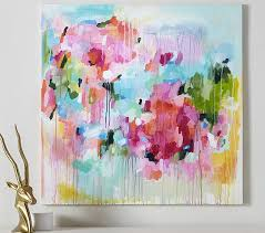 floral color pop canvas wall art on canvas floral wall art with floral color pop canvas wall art pottery barn kids